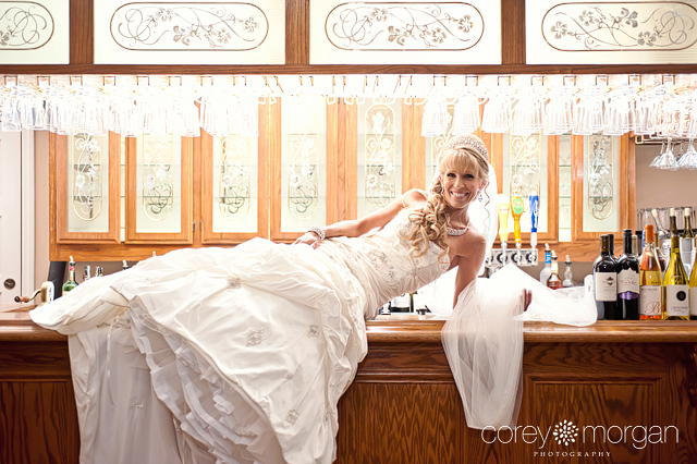 Grand Tradition Estate Fallbrook Reception Bride on Bar