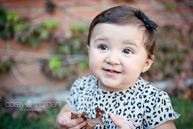 Baby girl at 9 months Children and  Infant Photographer